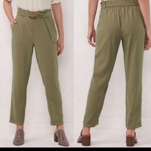 LC Lauren Conrad Slim-Fit Paper Bag Trouser Pants